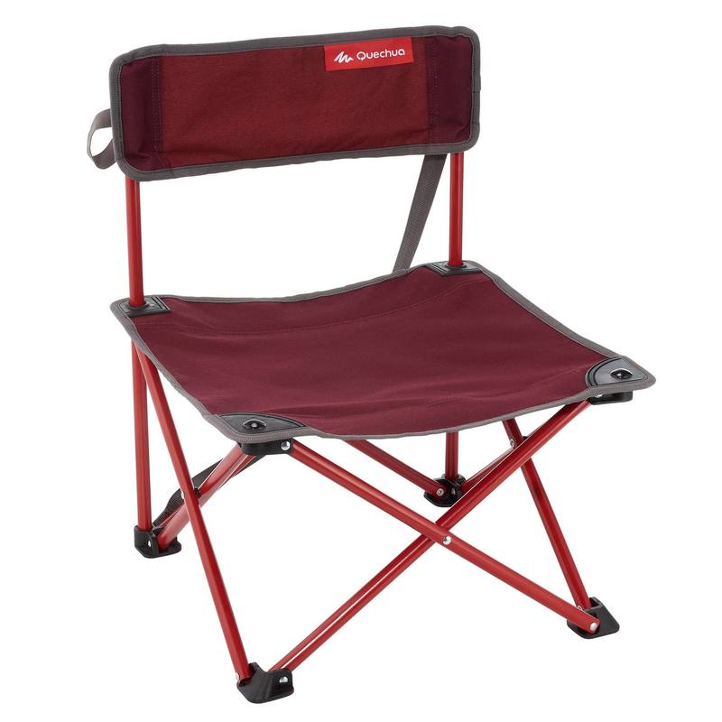 Low camping chair.