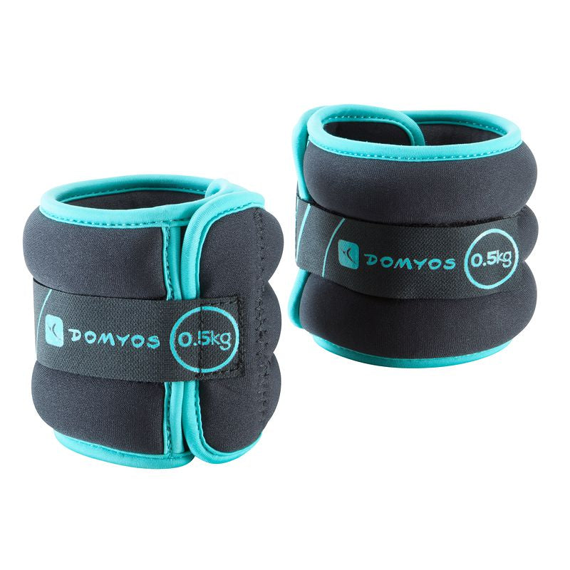 Pilates Toning Adjustable Wrist and Ankle Weights Twin-Pack 0.5 kg.