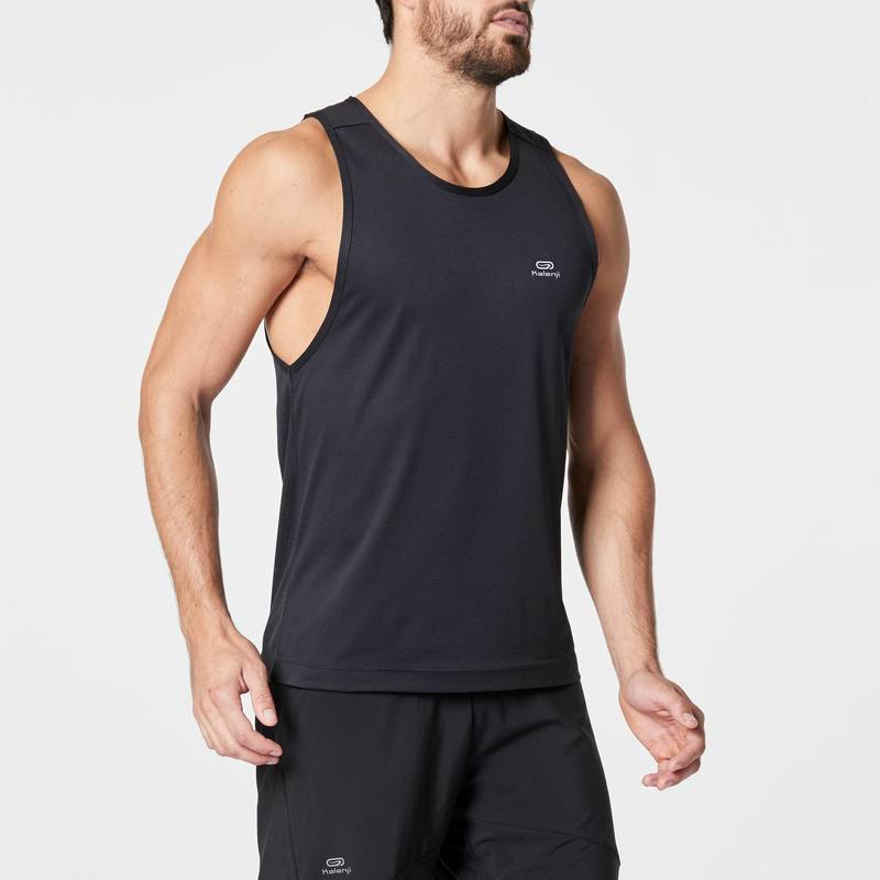 RUN DRY MENS RUNNING TANK TOP BLACK
