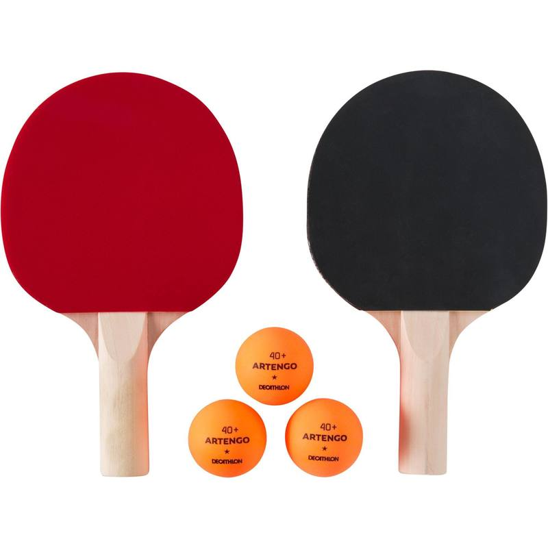 PPR 100 Small Set of 2 Free Table Tennis Bats and 3 Balls.