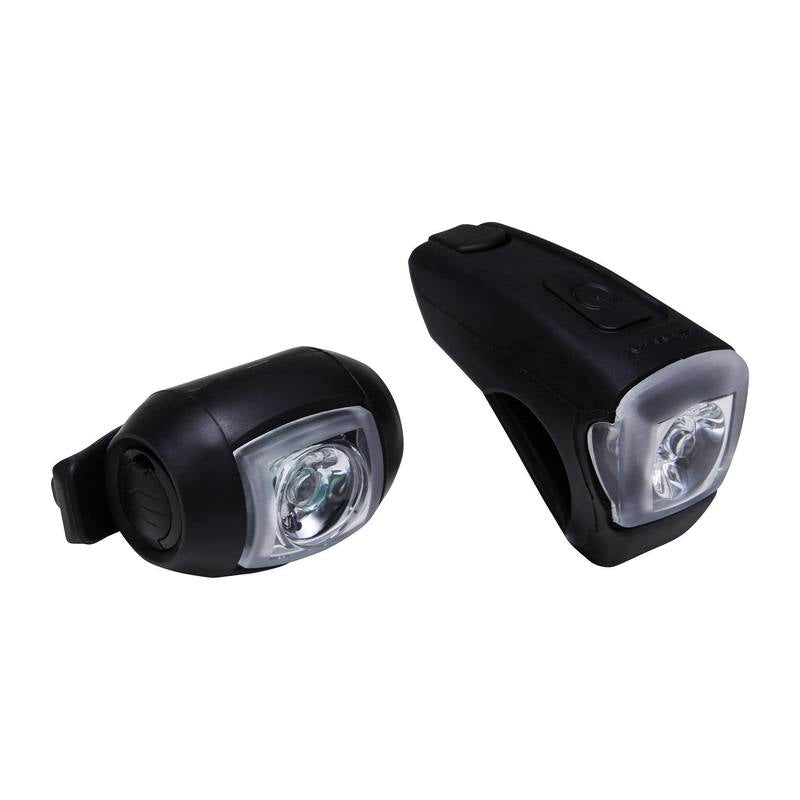 ST 520 Front/Rear LED USB Bike Light Set - Black.