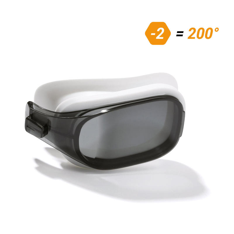 Two smoked lenses for SELFIT 500 swimming goggles Size L.