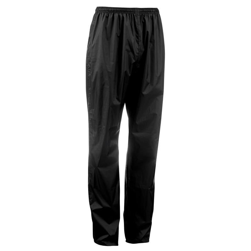 NH500 Protect men's country walking waterproof over-trousers - black.