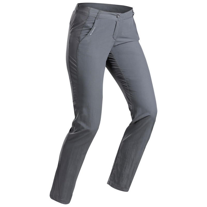 Women's MH100 mountain hiking trousers – Dark Grey.
