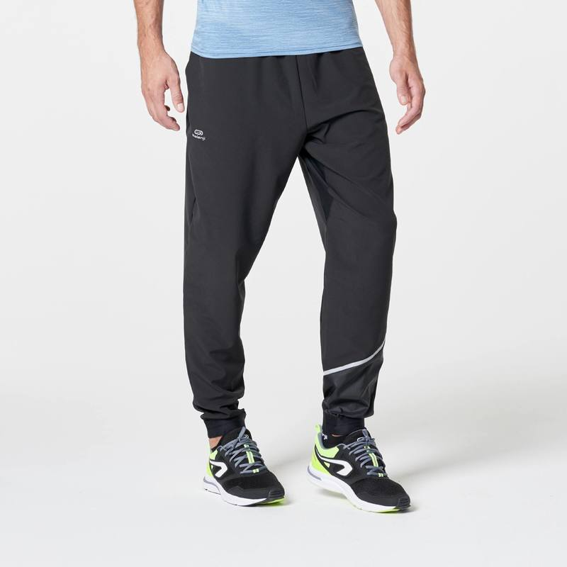 RUN DRY MENS RUNNING TROUSERS - BLACK.