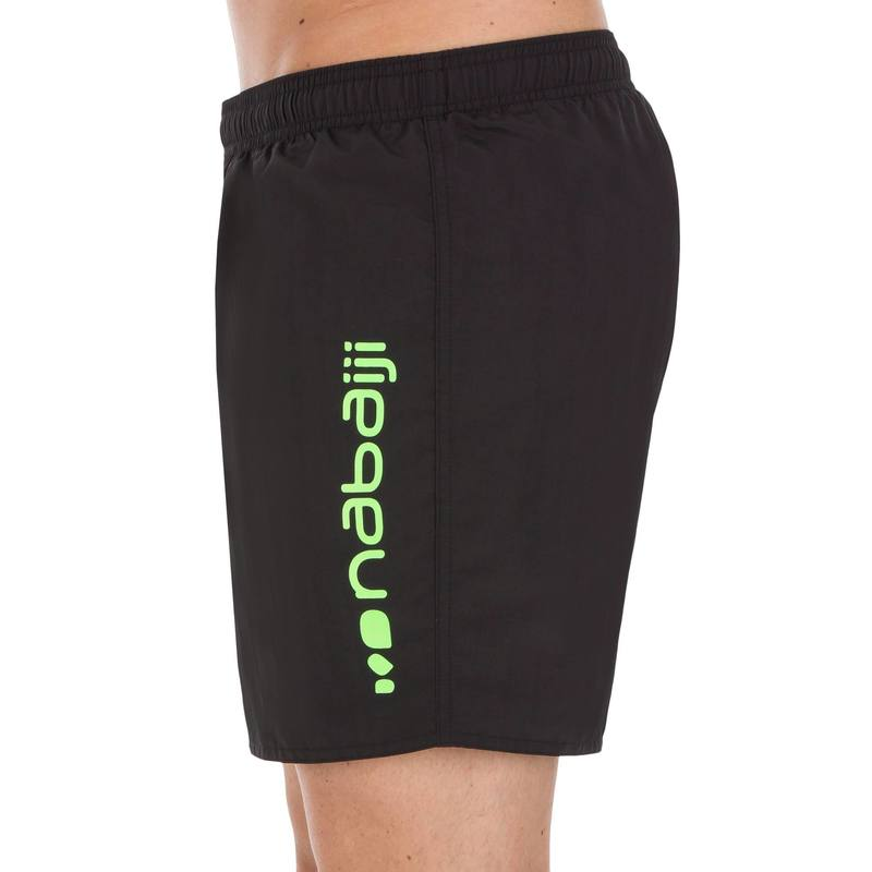 100 BASIC MENS SWIM SHORTS - BLACK GREEN.