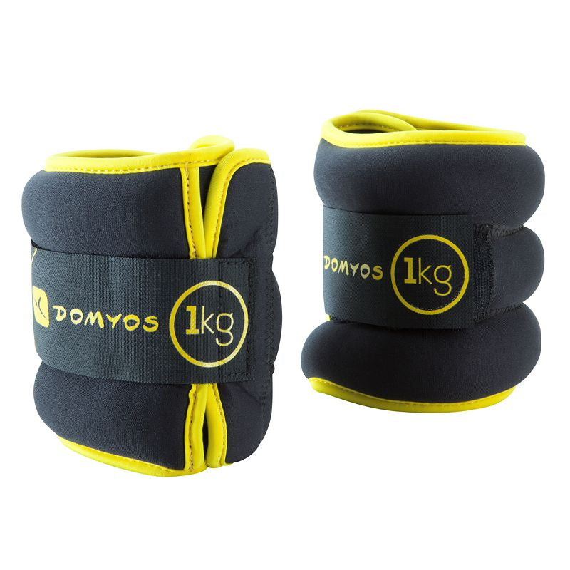 Pilates Toning Adjustable Wrist and Ankle Weights Twin-Pack 1 kg.