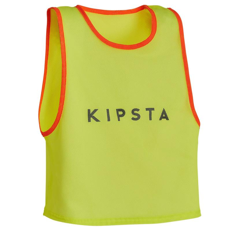 Sports Training Bib Kids - Neon Yellow.