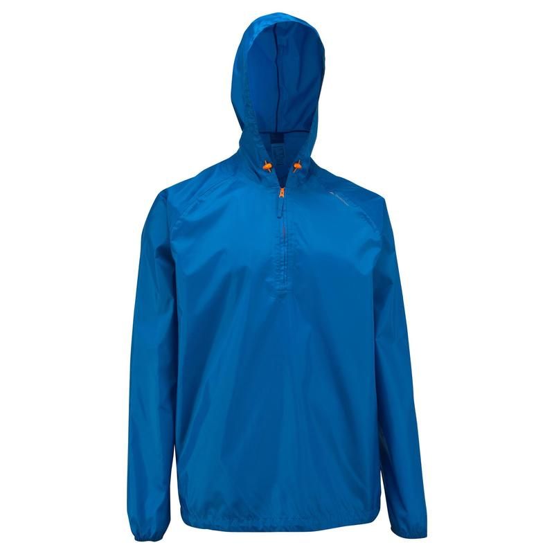 Men's waterproof NH100 Raincut Zip country walking rain jacket - Blue.