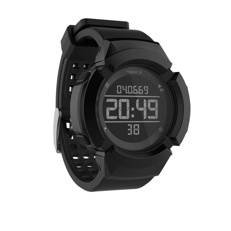W700xc M mens running timer watch shock-resistant black.