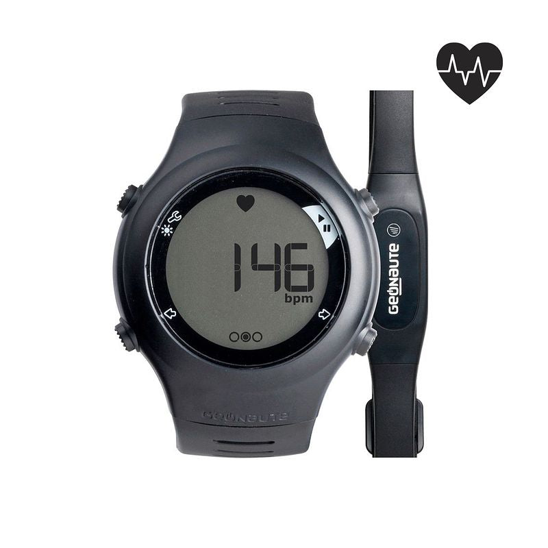 ONRHYTHM 110 runners heart rate monitor watch black.