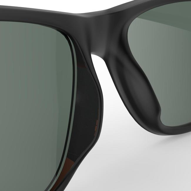 Polarised category 3 hiking sunglasses MH140 - grey and green.