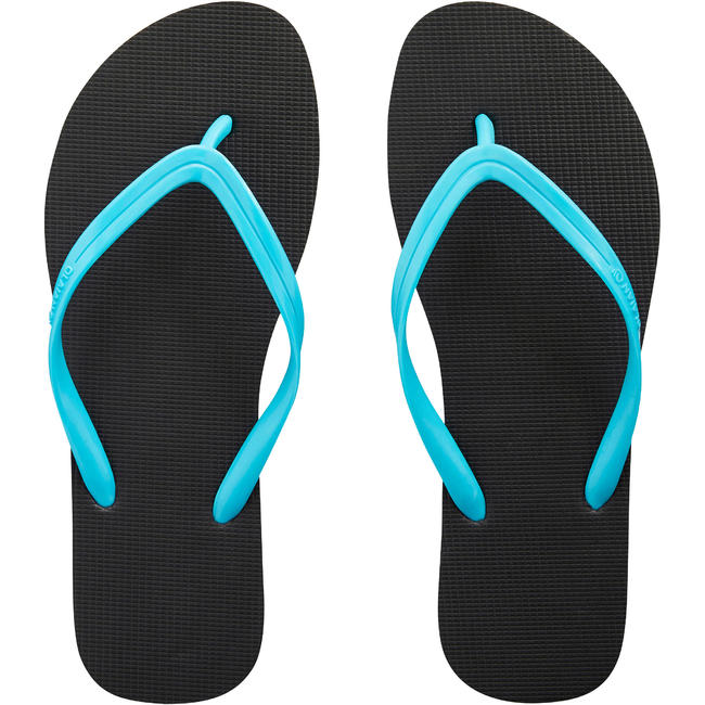 Womens FLIP-FLOPS TO 50 Black Turquoise.