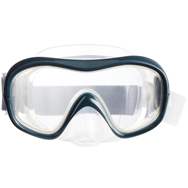 FRD100 freediving mask for adults grey.