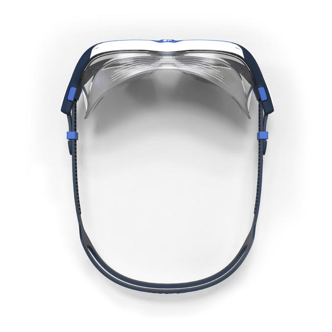 500 ACTIVE Swimming Mask, Size L - Blue, Clear Lenses.