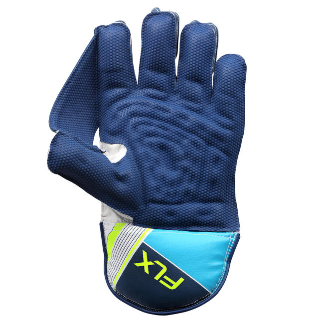 CRICKET KEEPING GLOVES WKG 100 BLUE.