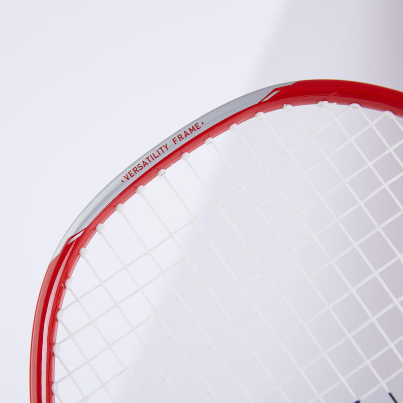Adult Badminton Racket Br 190 Set Partner Red Dark Blue.