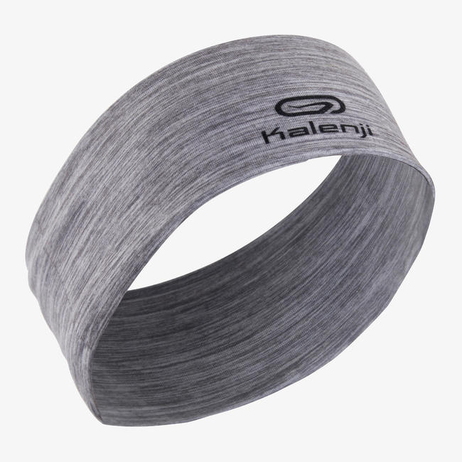 KALENJI RUNNING HEADBAND MULTIPURPOSE MOTTLED GREY.
