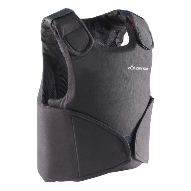 Safety 100 Kids' Horse Riding Body Protector - Black.