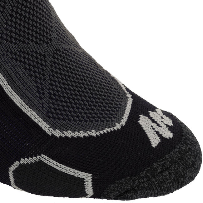 Mid-top mountain hiking socks. Forclaz 500 2 pairs - Black.