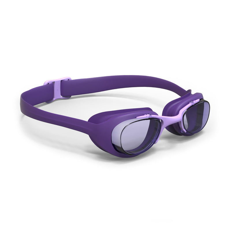 100 XBASE Swimming Goggles, Size L - Purple.