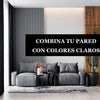 Combina tu pared con colores claros