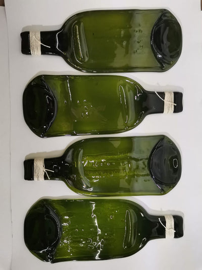 kit de 4 botellas fundidas ideal para tabla de quesos