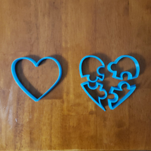 #112 Puzzle Heart Cutter Set