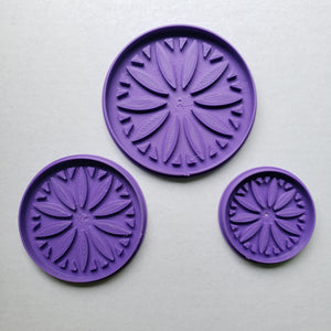 # 164 Imprinted Medallion Sunflower 3 pc