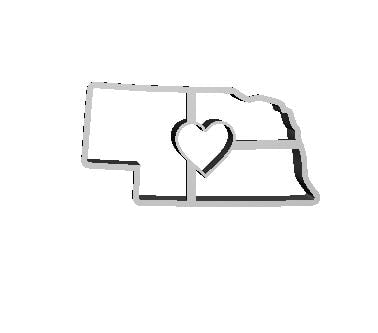NE State with Heart Cutter