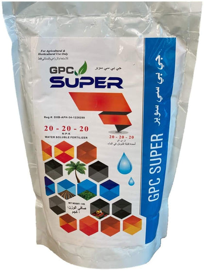 GPC Super {N-P-K:20-20-20} Water Soluble Fertilizer (QTY - 1KG)