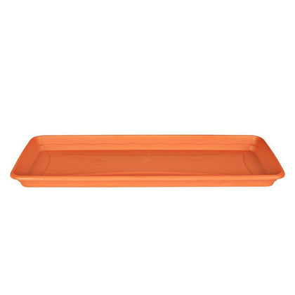 Rectangle Plastic Pot Plate (Terracotta Color)