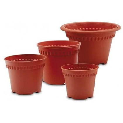 Large Plastic Plant & Flower Pot Planter Round Square Ribbed Decor Outdoor Tall