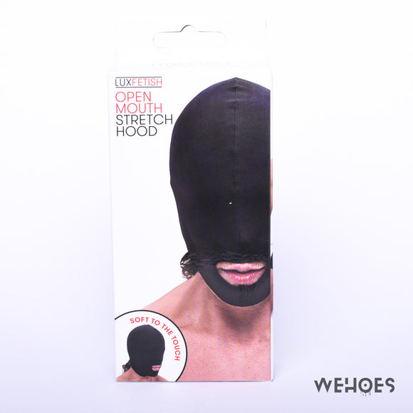 Open Mouth Stretch Hood Black