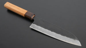 Hitohira Futana SB Kuro Nashiji Santoku 170mm Cherry Wood Handle