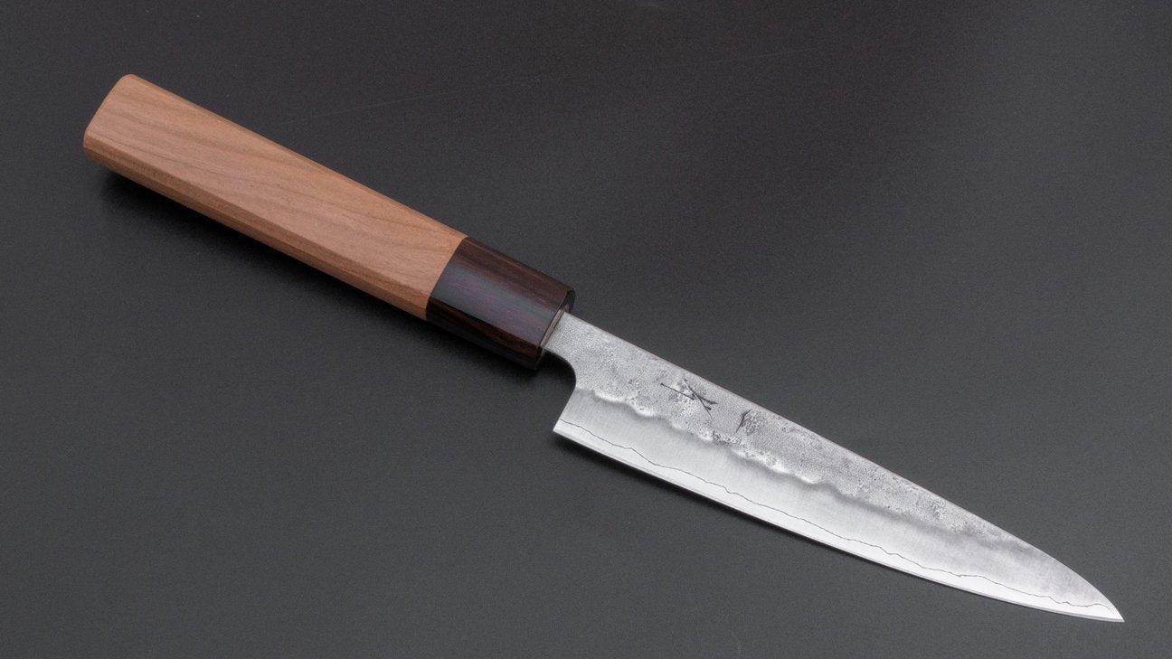 Hitohira Futana S3 Nashiji Petty 135mm Cherry Wood Handle