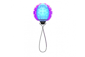 GIGWI REGULAR BALL PTM TRANS PURPLE/BLU