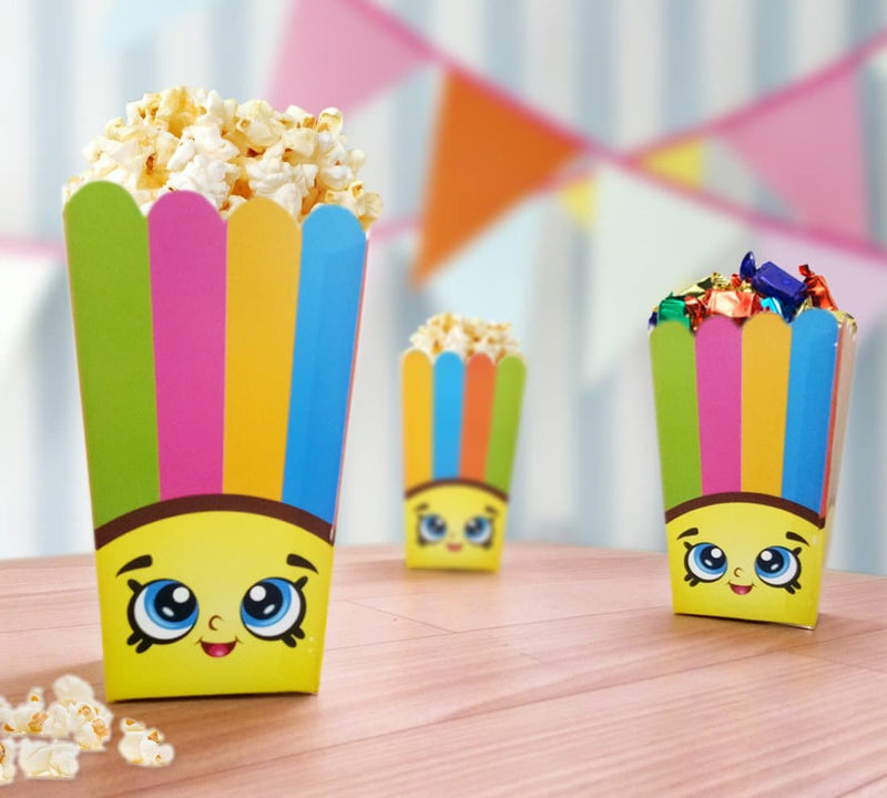 Table Decoration - Popcorn/Chips Containers (Kitty) - Party Pirates