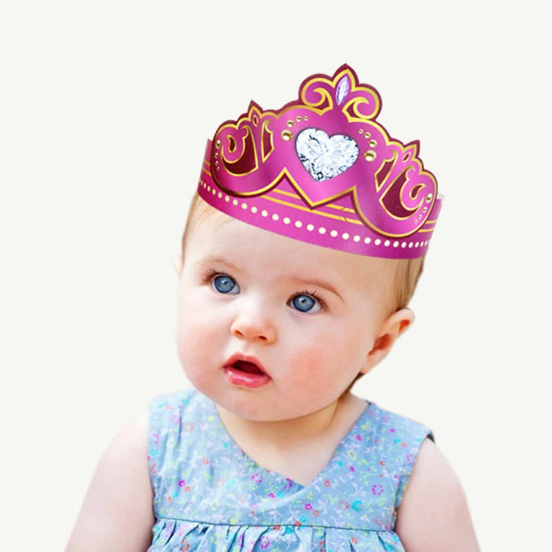 Princess Party Crowns (Pink) - Party Pirates