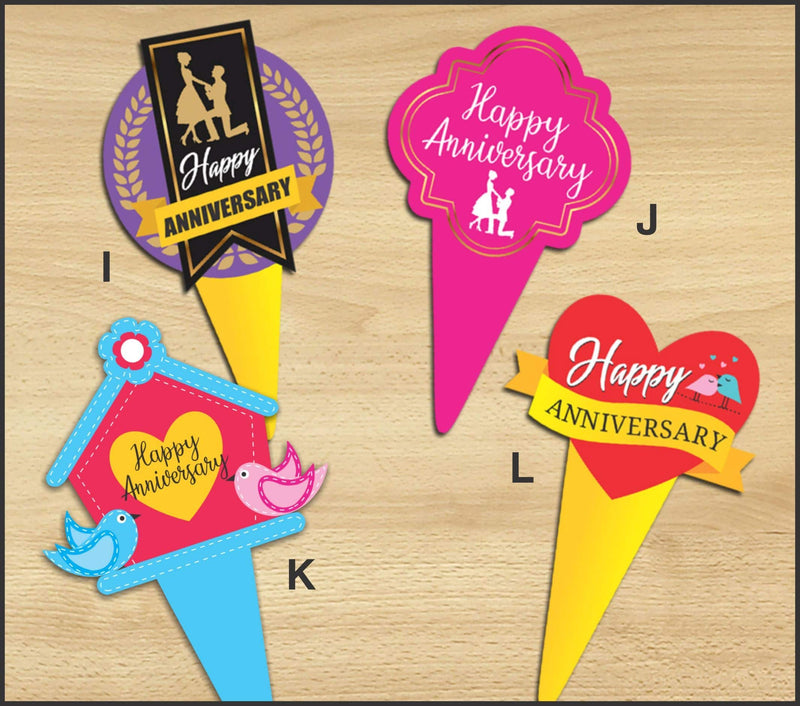 Cake Toppers - Anniversary K (Pack of 100 Pcs.) - Party Pirates