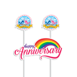 Cake Banners - Anniversary (Rainbow) - Party Pirates