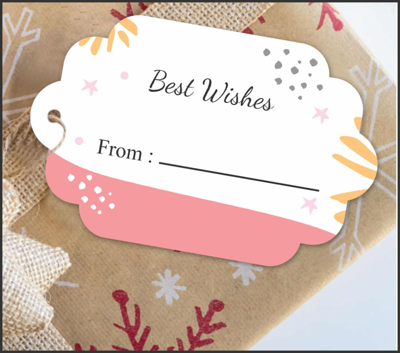 Pack of 12 'Best Wishes' Tags - Party Pirates