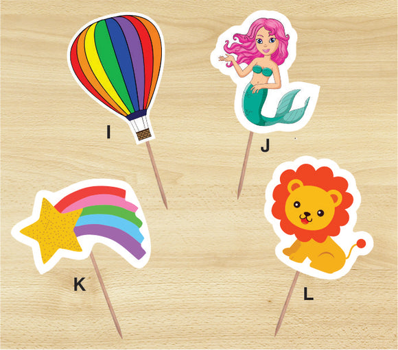 Cup Cake Toppers - Mermaid (Pack of 25 Pcs.) - Party Pirates