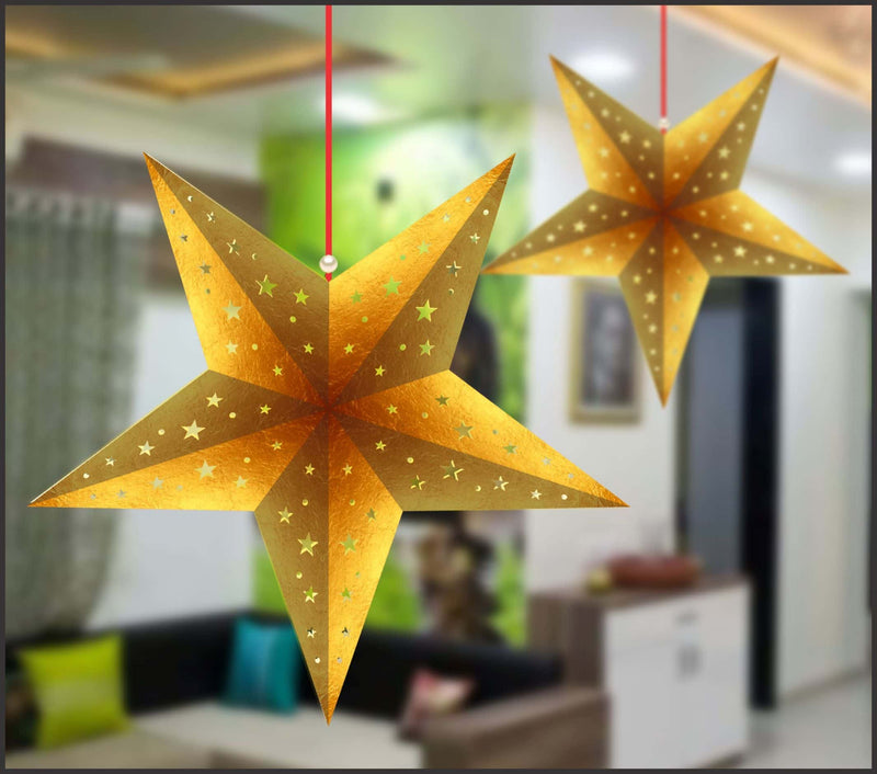 Lighting Decor - 5 Pointed Star (Metal Finish) - Party Pirates