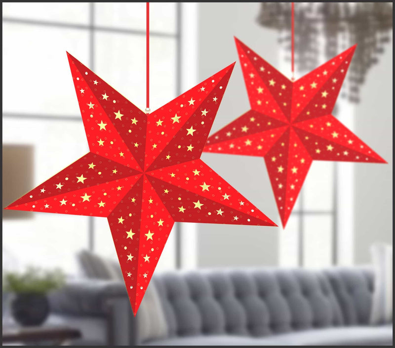 Lighting Decor - 5 Pointed Star (Red) - Party Pirates