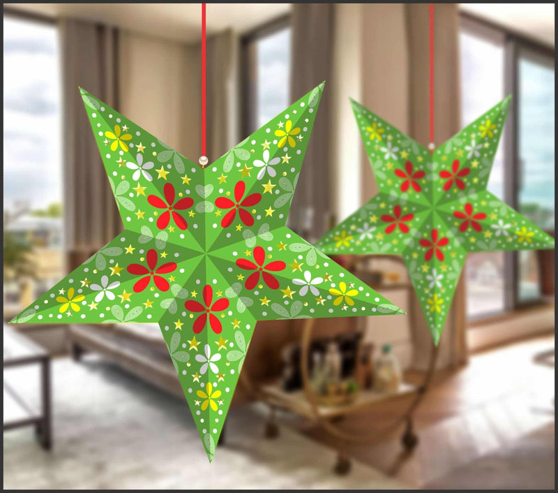Lighting Decor - 5 Pointed Star (Parrot Green) - Party Pirates