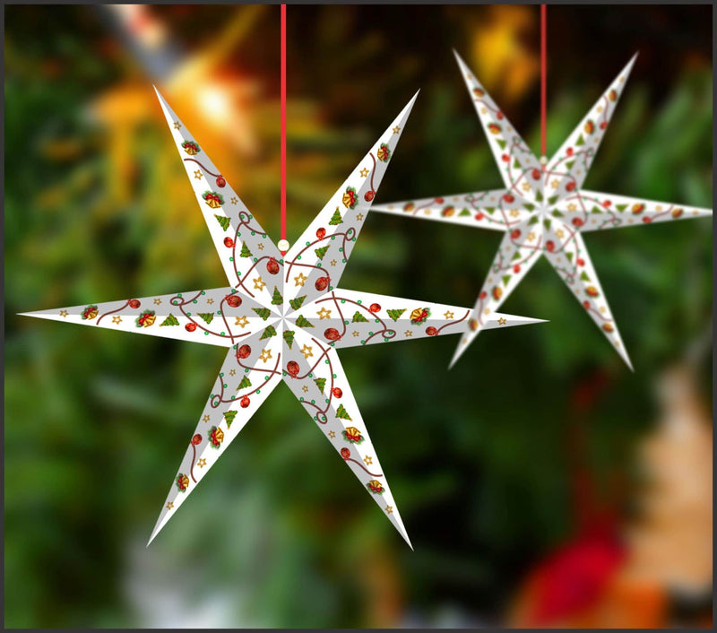 Lighting Decor - 6 Pointed Star (Christmas) - Party Pirates