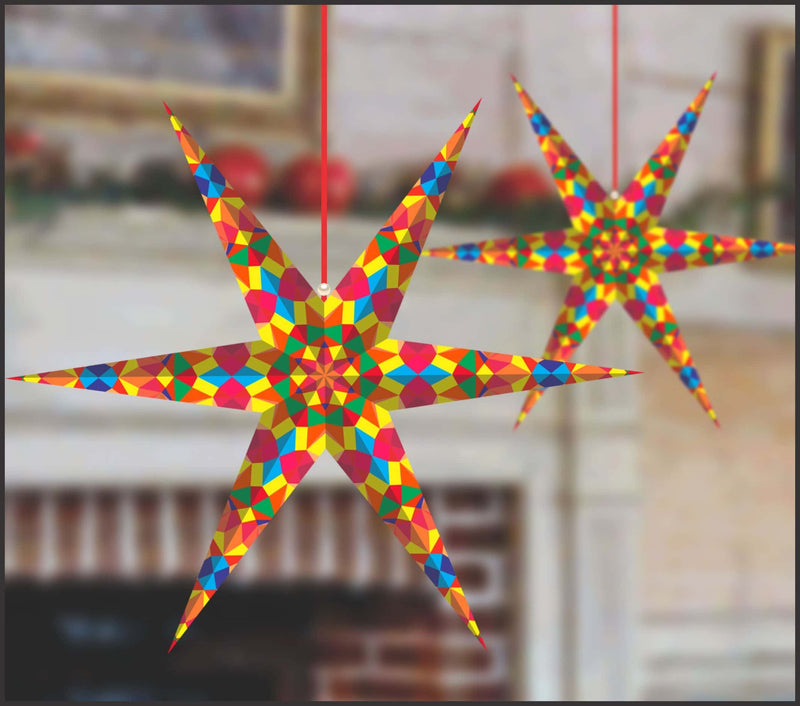 Lighting Decor - 6 Pointed Star (Multicolored) - Party Pirates