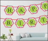 Wall Decoration - PoIygon Banner (Birthday) - Party Pirates