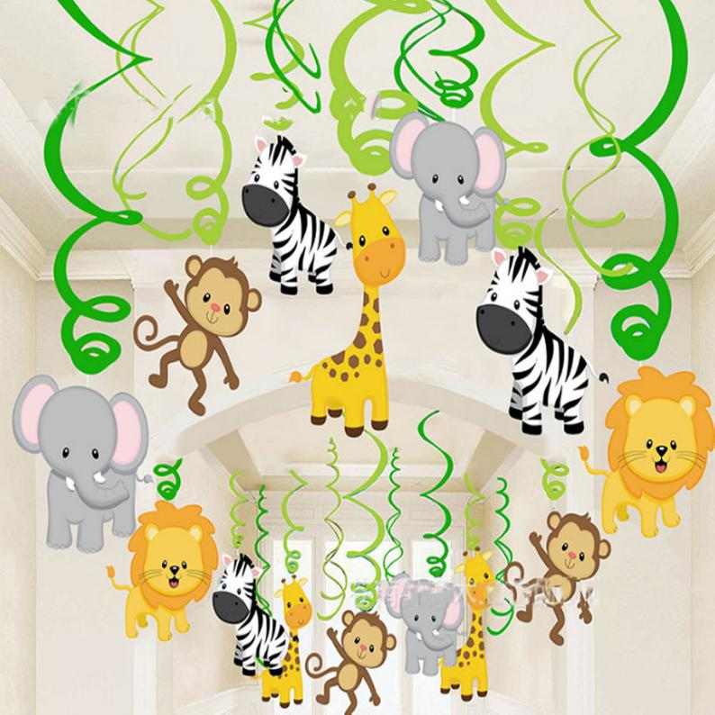 Jungle Swirls or Animal Swirls - Party Pirates